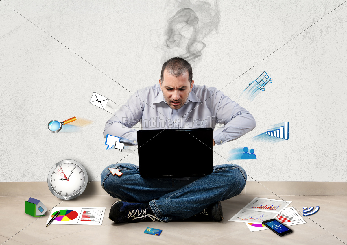 stressed, businessman - 10062744
