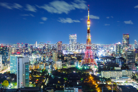 tokyo, city, skyline, at, night - 10066064