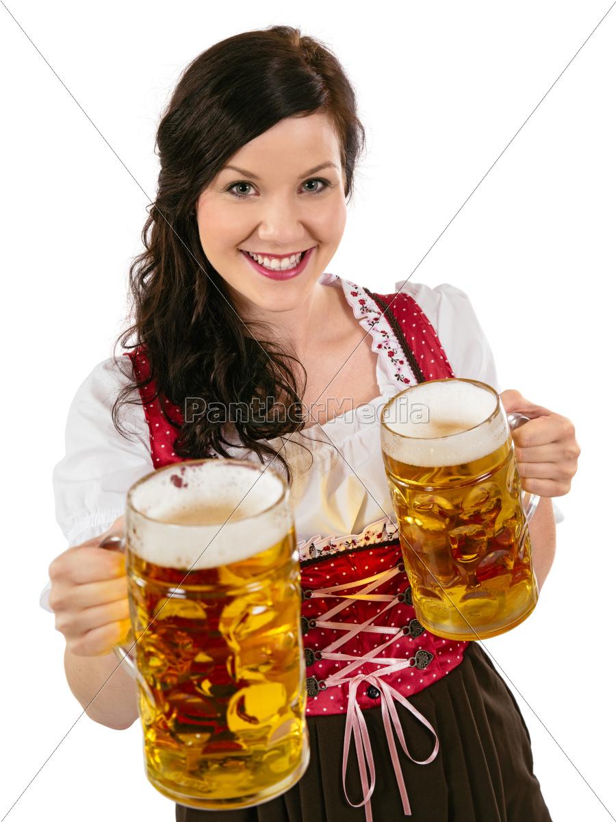 gorgeous, oktoberfest, waitress, with, beer - 10067380