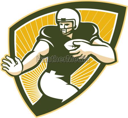 american football running back shield
