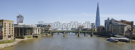london panorama thames with sharp