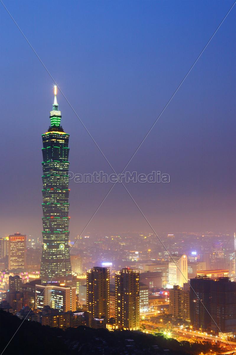 taipei, city, in, taiwan, at, night - 10087446