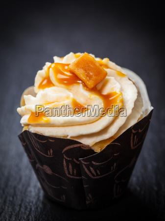 delicious caramel cupcake