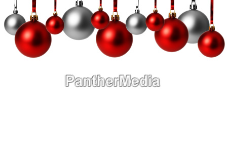 red, and, silver, christmas, balls, hanging, exempted - 10093708