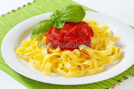food, aliment, closeup, plate, sauce, noodles - 10094878