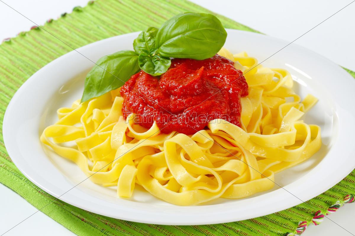 tagliatelle, pasta, with, tomato, paste - 10094878