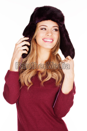 beautiful, woman, in, a, winter, cap - 10098610