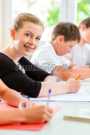 students write a class test or