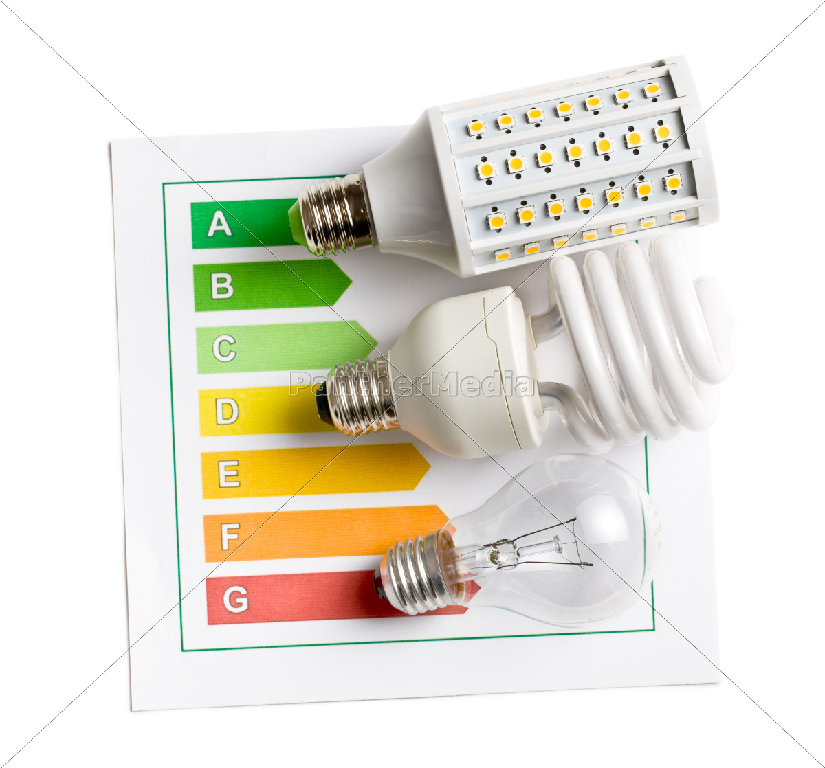 various, lightbulbs, with, energy, label - 10103056