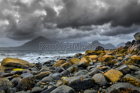 landscape coastline view of rocks and