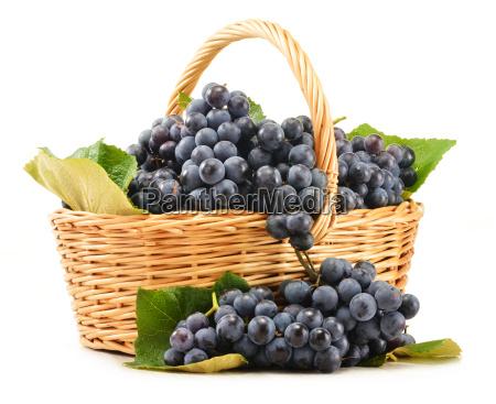 wicker basket full of fresh red
