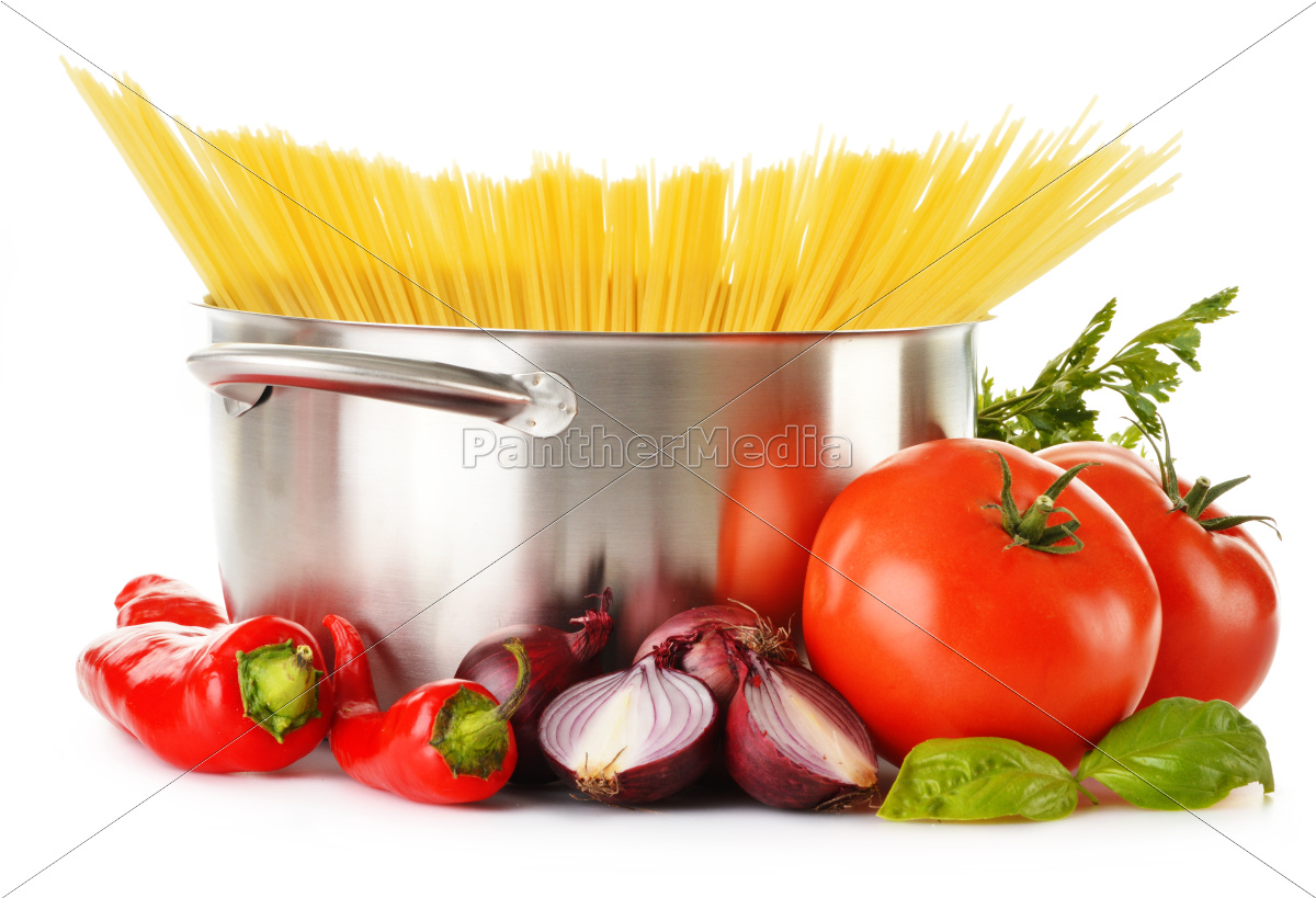 stainless, pot, with, spaghetti, and, variety - 10107247