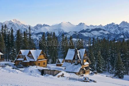 snow covered peaks of the tatra