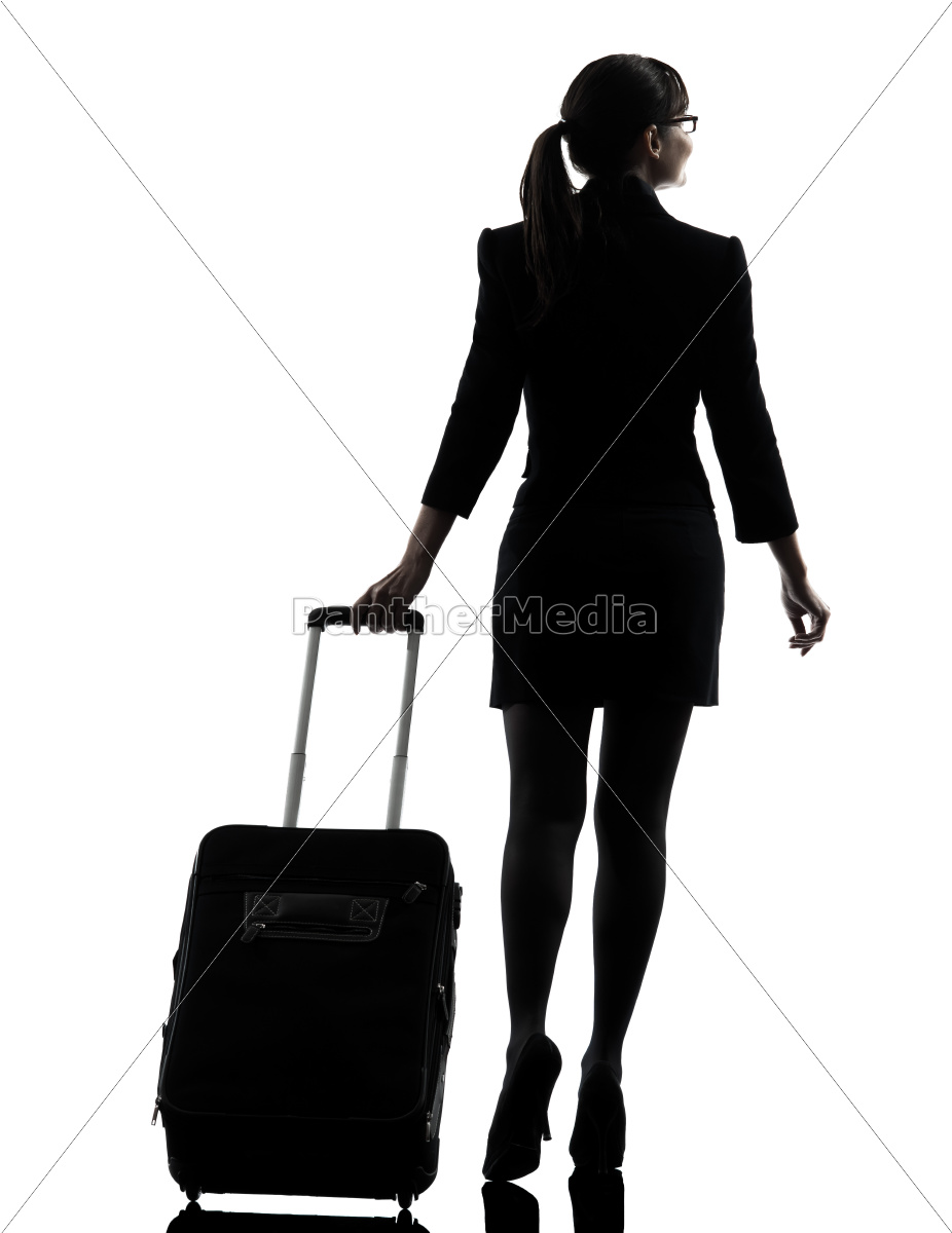 rear, view, business, woman, , traveling - 10112973