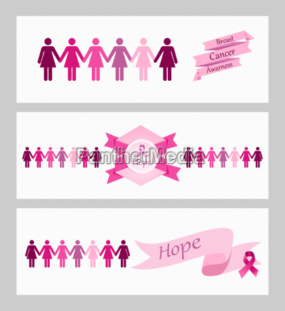 breast, cancer, awareness, ribbon, web, banners - 10113743