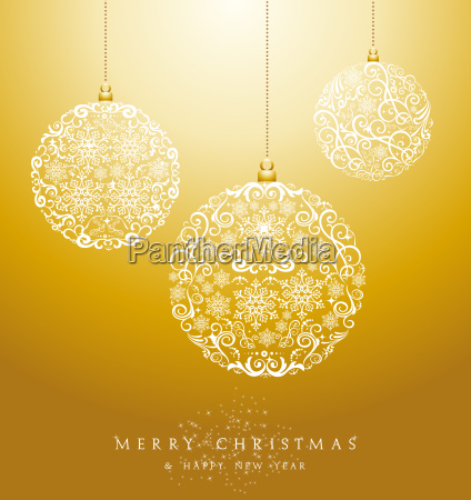 luxury, merry, christmas, baubles, background, eps10 - 10113801