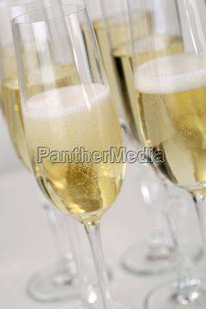champagne reception with sparkling wine or