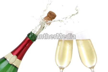 sparkling, wine, splashing, out, of, a - 10116501