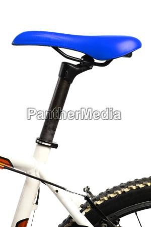 blue bicycle saddle