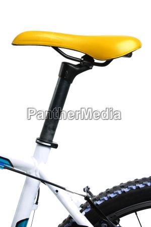 yellow bicycle saddle