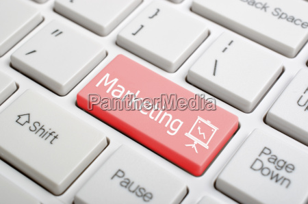 marketing on keyboard