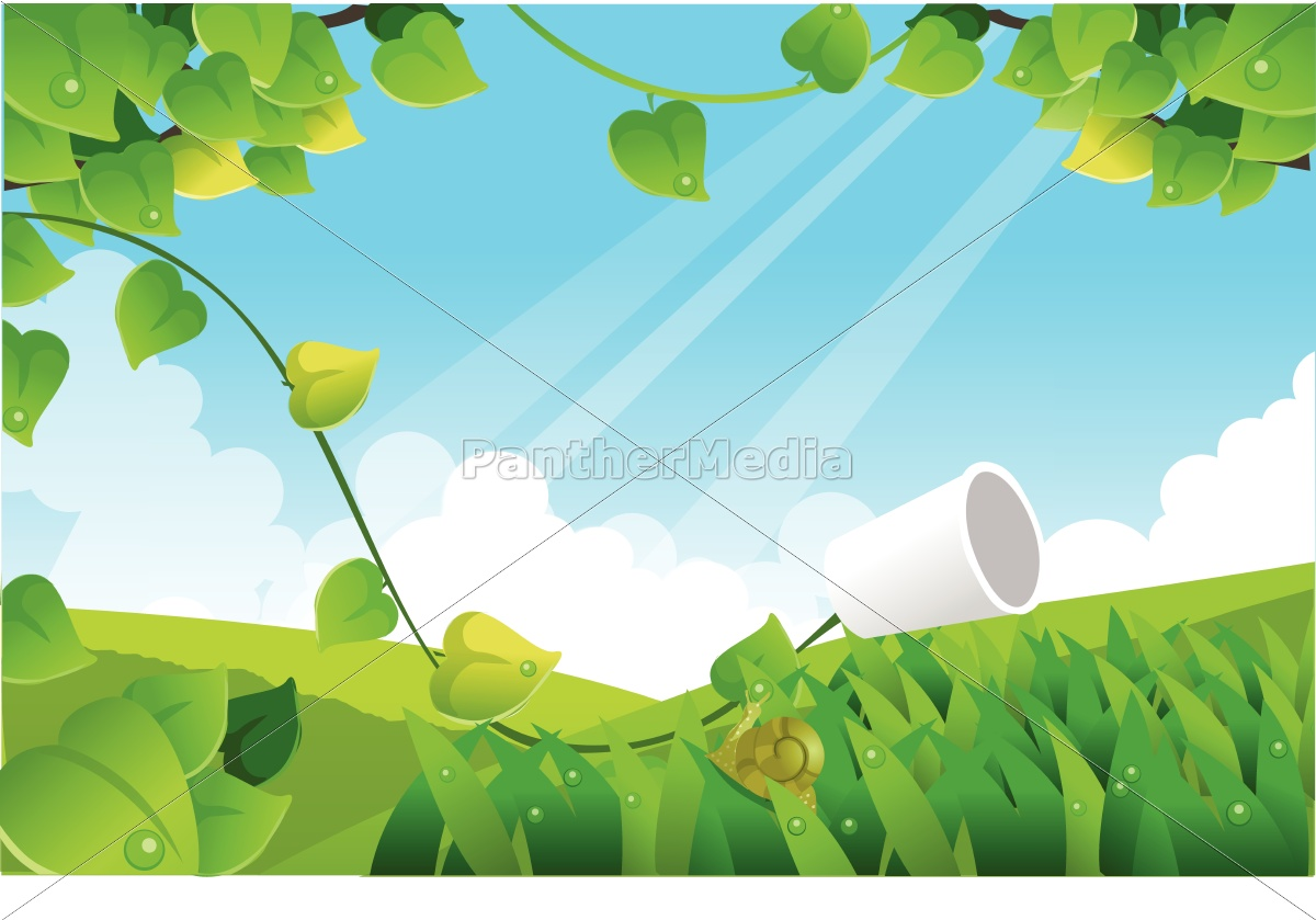 green, landscape, with, blue, sky - 10119147