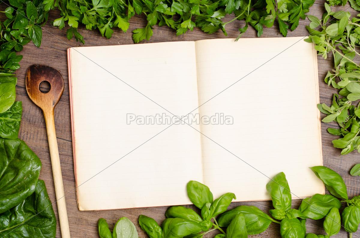 green, herbs, as, a, frame, around - 10120193