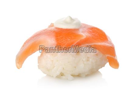 sushi salmon sake