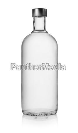 bottle of vodka isolated