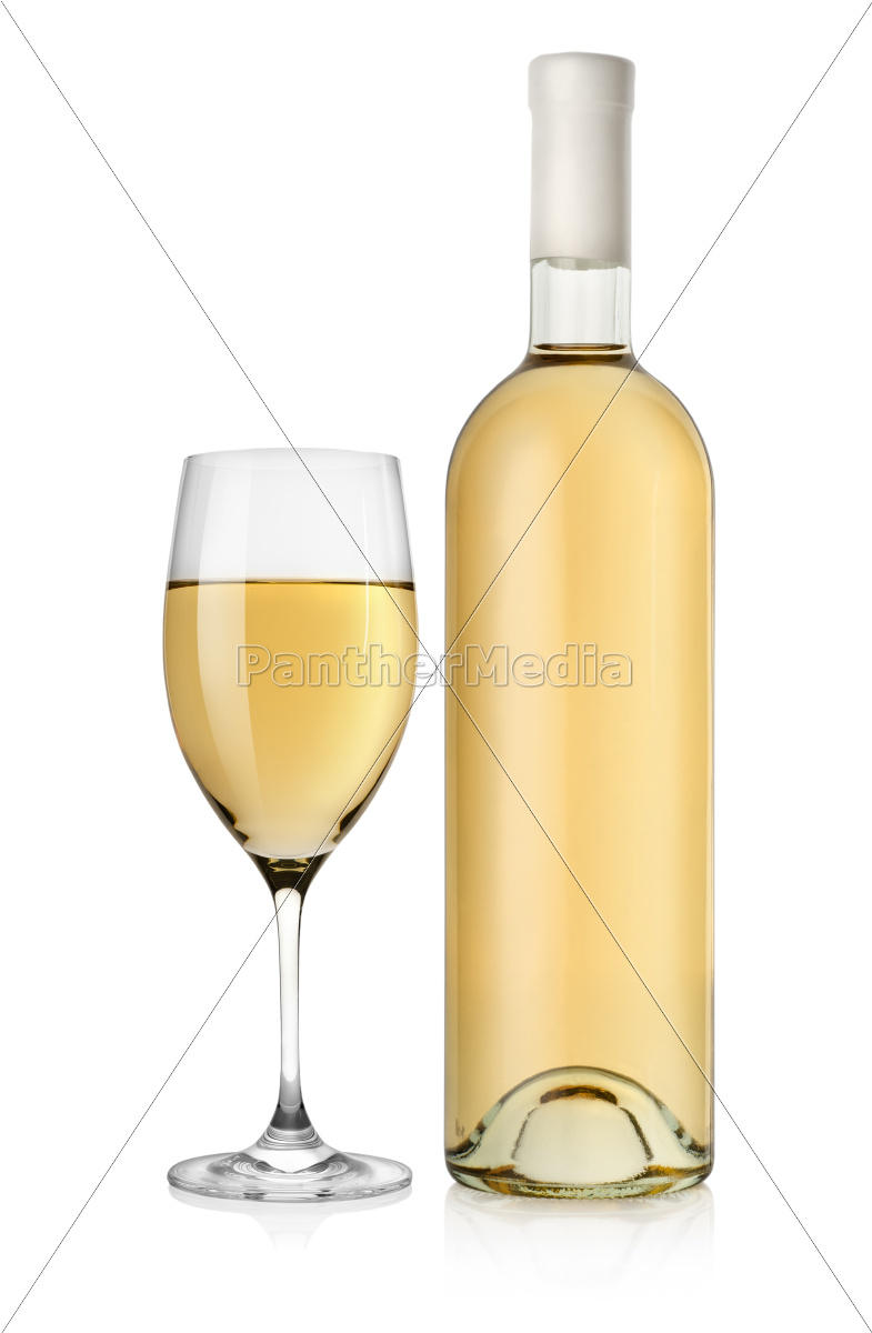 bottle, of, white, wine, and, wine - 10122755