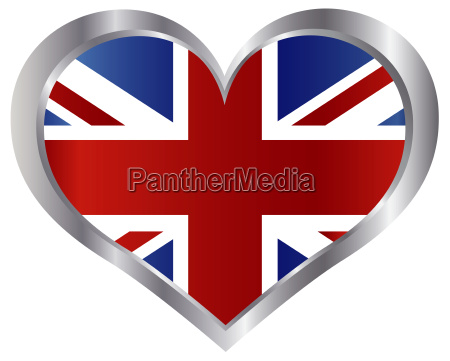 england union jack flag heart