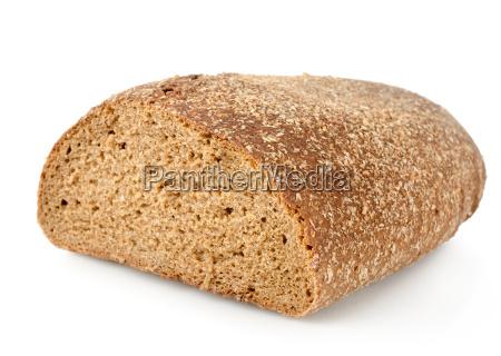 black rye bread isolated