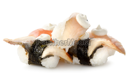 sushi fish isolated
