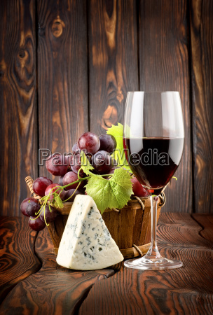 wine and blue cheese