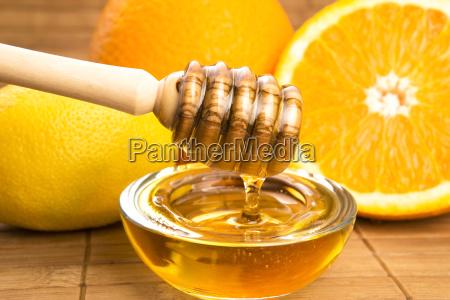 fresh, honey, with, lemon, and, orange - 10125969