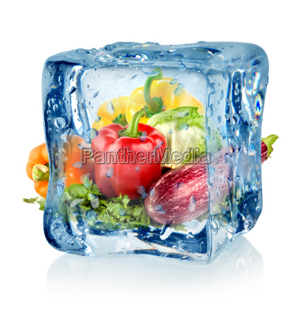 ice, cube, and, vegetables - 10125777