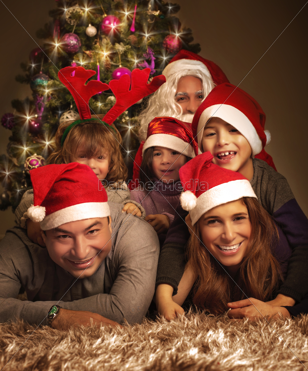 happy, family, on, christmas, eve - 10135777