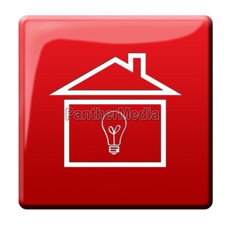 energy saving house button