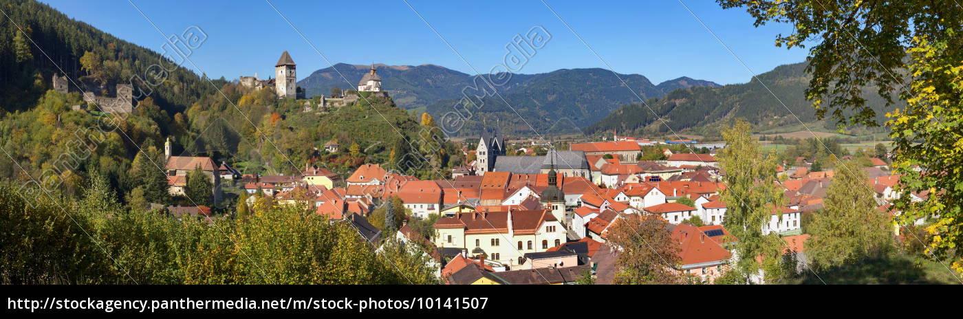 panorama, of, friesach, /, kärnten - 10141507