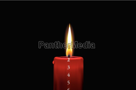 red advent candle december 2nd