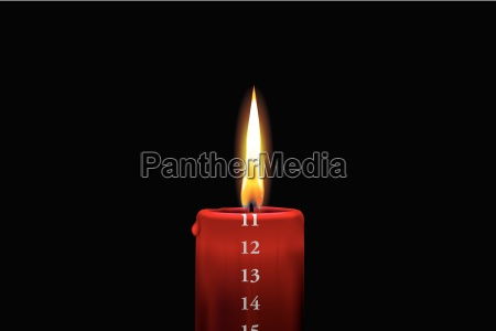 red advent candle december 11th