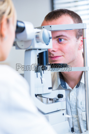 optometry concept handsome young man