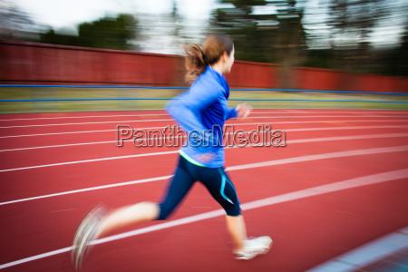 woman, blue, motion, postponement, moving, movement - 10147317