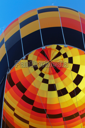 yellow red black checked hot air