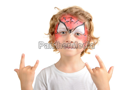 face painting spider web