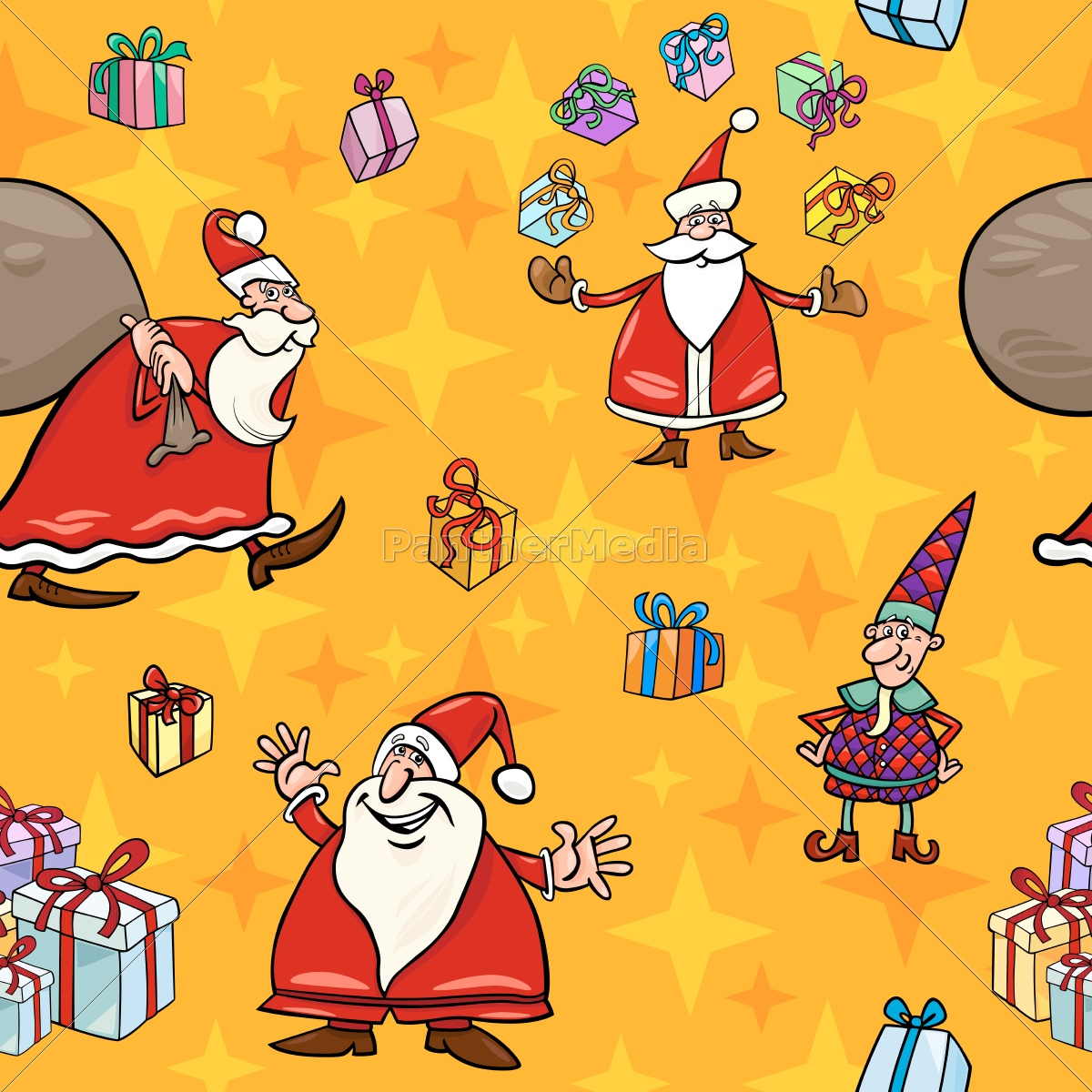 illustration, christmas, wallpaper, pattern, seamless, cartoon - 10159659