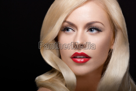 close up studio portrait of stylish