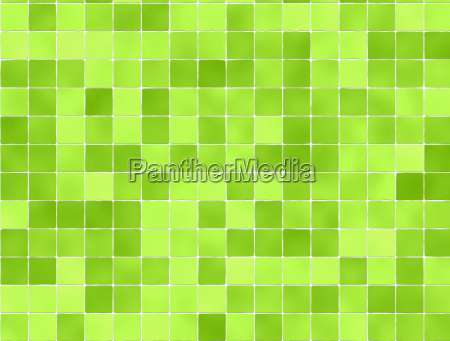 green tiles wall covering