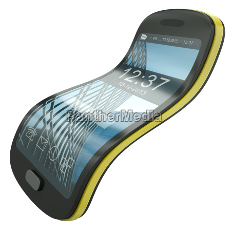 flexible smartphone concept illustration