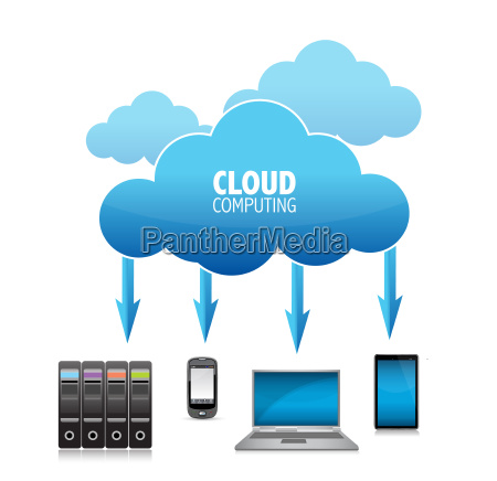 3d, cloud, computing, concept, illustration - 10165795